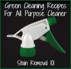 Eco-friendly homemade all purpose cleaner recipes.