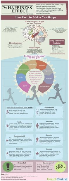 The Happiness Effect via bittopper.com fit, bodi, mental health, healthi, exercis, infograph, happiness, well, workout