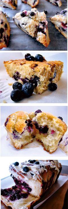 Blueberry Scones ~ Blueberry Scones. The best scones recipe I have come across!