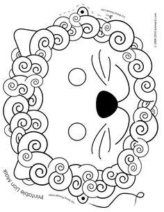 Printable Animal Masks for Halloween.