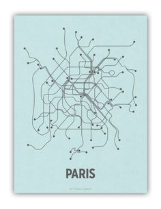 lineposters sells modern, graphic interpretations of your favorite city transit systems.