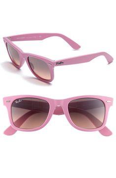 Pink Ray Bans<3