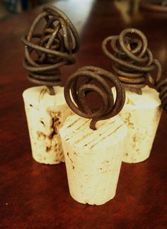 Wine Cork Stopper Handcrafted of Vintage Ranch Wire, Circa 1947