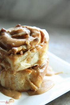 Caramelized Banana Sticky Buns