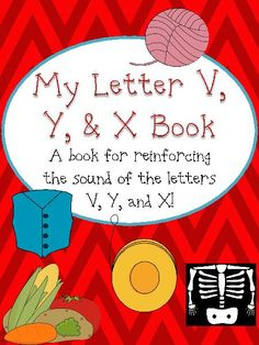 """TeacherLingo.com $2.00 - This product is for an emergent reader excellent for pre-kindergarten and kindergarten students. The book is available in both color and black and white. The illustrations all contain pictures that start with the """"v, y,"""" & """"x"""" sound."""