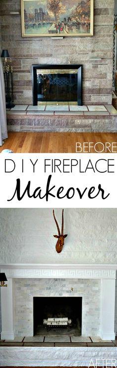 DIY Fireplace Makeov...
