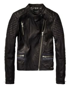 Leather Biker Jacket With Rock 'N Roll Illustration > Womens Clothing