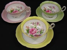 Merit Occupied Japan Tea Cup | Set of 3 TRIMONT CHINA tea cups sets OCCUPIED JAPAN by ATimeSaver