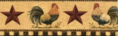Some type of a antique-feel rooster border, but without the stars...