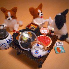 Papillon New Year's Party with Sukiyaki , Needle Felting - @momos_gallery- #webstagram