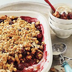 Cherry-Almond Crisp | CookingLight.com