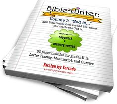 Bible Writer - Free 150 printable pages of copywork and memory verses