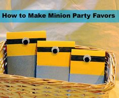 Make a Minion Party Favor from Despicable Me