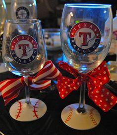 Texas Rangers...@Shannon Bellanca Rainey, angel, angela, & brittany! So freakin cute!!!