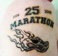 Proud of running 25 Marathons, great effort. Smokin' hot jogger.