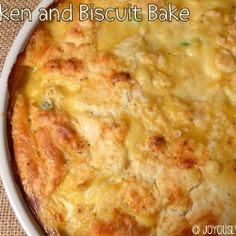 Chicken and Biscuit Bake by JoyouslyDomestic