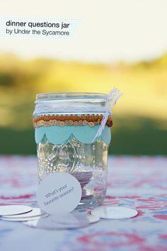 Diy dinner questions jar