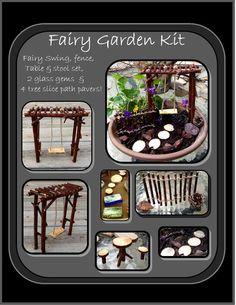 fairy garden kit,fey garden,fairy faerie pixie garden, msytical garden kit, fairy furniture, childrens gifts,mystical gift idea,most popular
