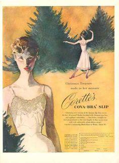 Vintage lingerie slip ad