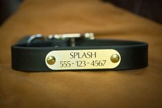 "waterproof ""leather"" dog collars."