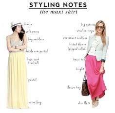 Recently: take notes - how to wear a maxi skirt