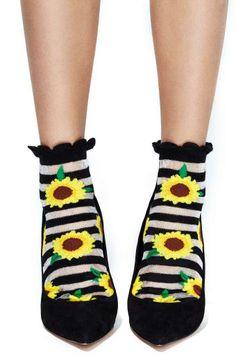 Sunflower Ankle Socks