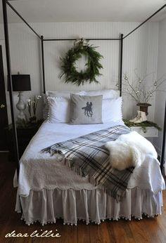 Dear Lillie: Our Guest Bedroom.....bedskirt