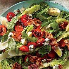 BLT Salad with Olive Vinaigrette | MyRecipes.com