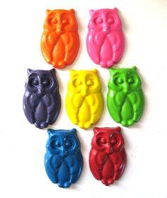 .Owl Crayons.