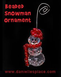 Beaded Snowman Christmas Ornament Craft Kids Can Make  from www.daniellesplace.com