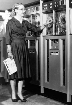 computer-programming pioneer Rear Admiral Grace Murray Hopper was born in Dec 1906.  Hopper was a highly-regarded professional in both academia and industry and her doctorate in mathematics, received in 1934, was a rare achievement for women at that time.   In addition to being a professor, Ms. Hopper was actively involved with the Navy for over 40 years.   She also co-invented the Common Business Oriented Language (COBOL), the first universal computer language to be used in business and gover