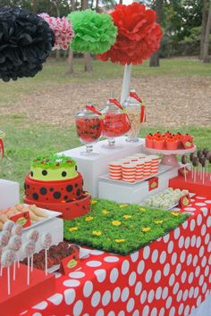 Little Ladybug Birthday Party Ideas | Photo 4 of 28 | Catch My Party