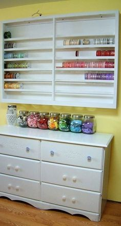 #papercraft #crafting supply #organization: Ribbon Storage