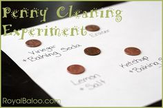 Penny Cleaning Experiment - what is the best way to clean your dirty pennies?