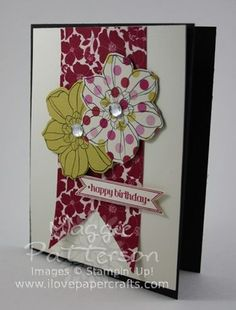 Secret Garden stamped and die cut on patterned paper.  Stampin Up (SU)
