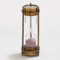 One of my favorite discoveries at WorldMarket.com: Sand Timer with Compass