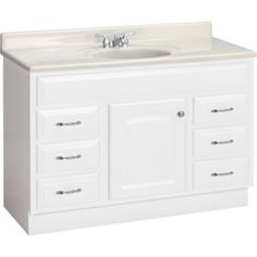 Project Source�48-in x 21-in White Traditional Bathroom Vanity