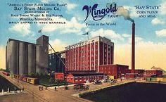 Bay State Milling Company, Winona, Minnesota, 1916 postcard www.visitwinona.com