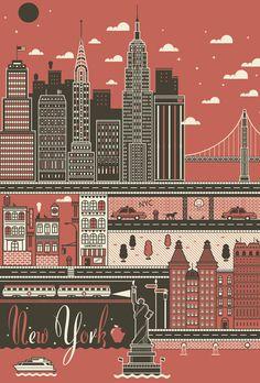 City Poster Set : I Love Dust: via stewf, makes me miss new york