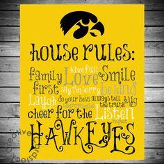Iowa Hawkeyes House Rules