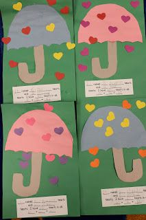 "raining hearts addition craftivity - could use with the book ""the day it rained hearts"" for valentines day! lee kindergarten, heart crafts, books, valentine day crafts, math art, weather activities, rain heart, kindergarten blogs, weather crafts"
