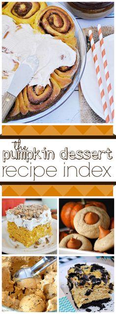 The Pumpkin Dessert Recipe Index | Over 100 Recipes!