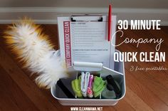 30 Minute Company Quick Clean + 3 Free Printables via Clean Mama