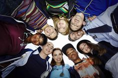 Red Band Society -  From left: Octavia Spencer, Nolan Sotillo, Zoe Levin, Griffin Gluck, Dave Annable, Ciara Bravo, Brian Bradley, Rebecca Rittenhouse and Charlie Rowe