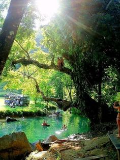 Natural Swimming Pool, Indonesia | See more Amazing Snapz