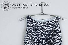 Abstract Birds Dress –Vogue V8901 — Sew DIY