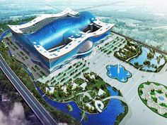 The World's largest building: the New Century Global Center (5.5 million square feet of floor space) in Chengdu, China