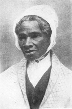 """Sojourner Truth, who was an women's rights activist and abolitionist in the 1800s. She is remembered for giving her famous speech, """"Ain't I a Woman"""" in 1851 at the Ohio Women's Rights Convention"""