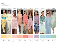 Spring Summer 2014 Color Trends - Soft tones. Soft tones give you a light and breezy feeling. They also look great when paired with warm and cool colors for a color block look.