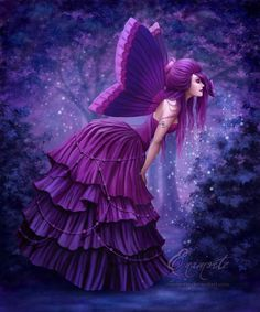 Purple Peaceful Butterfly